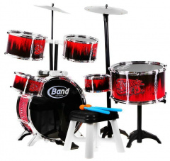 The Huge Drums Drum Kit Cymbals Stool