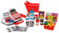 Cash Register Shopping Cart Accessories Red