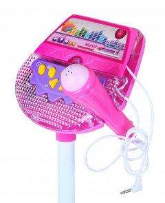 Microphone With Stand Pink