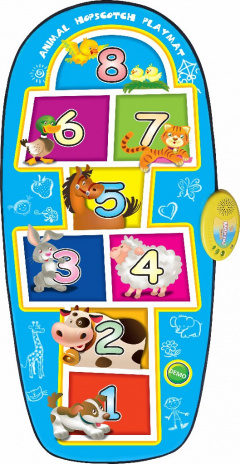 Game Mat Class Animals Blue