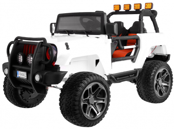 The Monster Jeep 4 x 4 White