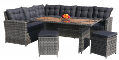 Garden Furniture Rattan Corners Tall Table Gray