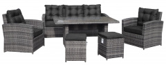 Garden Furniture Rattan. High Table. Gray