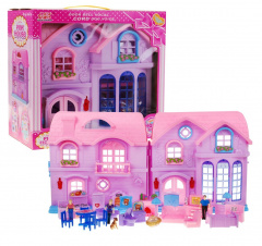Big house with pink roof