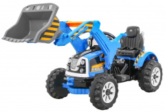 Vehicle Excavator Tractor Blue