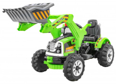 Vehicle Excavator Tractor Green