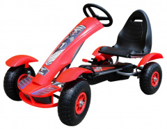 Large Go-Kart Pumped Red Wheels