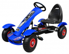 Large Go-Kart Pumped Wheels Blue