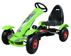 Large Go-Kart Pumped Wheels Green