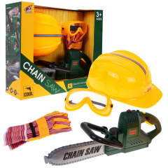 Large chainsaw set, gloves, goggle and helmet