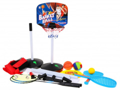 Sports set 5in1, basketball, volleyball, Badminton, Frisbee, Paletki