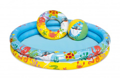 Pool Paddling Pool Wheel Ball Set 3 at 1 1.22/20cm BESTWAY