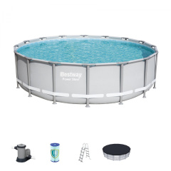 Rack swimming pool 16FT 488x122 cm POWERSteel 6w1 BESTWAY