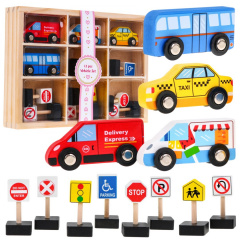Set of 4 Wooden Vehicle Signs