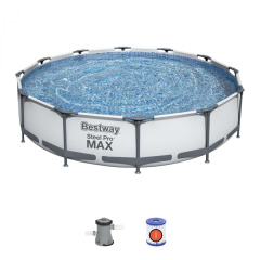 Swimming pool Ceilings 12 ft 366x76 cm SteelPRO 3 in 1 BESTWAY